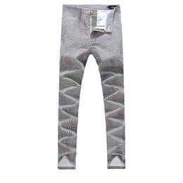 Wholesale Fly Brushes - Wholesale- 2016 new high quality Men's plaid casual pants 100% cotton Brushed Trousers plus- size 30-38