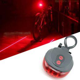 Wholesale Flashing Alarm - Bike Laser Tail Lights 2 Laser 5 LED Cycling Bicycle Bike Taillight Bicycle Rear Lamp Warning Lamp Flash Alarm Light