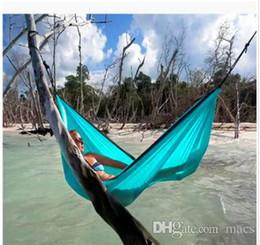 2019 cores hammock atacado Frete Grátis Ao Ar Livre ou Indoor Parachute Pano Dormir Hammock Camping Rede de alta qualidade multicolor