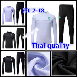 Wholesale tracksuit sweater suit real madrid trainning sweater top set jacket long pants home white away black RONALDO
