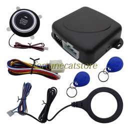 Wholesale Push Start Car Alarm - Intelligent RFID Car Alarm System With Push Button Start & Stop Car Engine & 2 Immobilizer Transponders Quickly Shipping