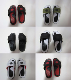 Wholesale High Heel Sport - Wholesale high quality Hydro IX Retro 9 slippers Black Army green mens sports casual Summer Slippers size 7-13