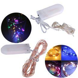 Luci natalizie impermeabili della luce della corda delle batterie di 2m 20LED LED delle luci di Natale CR2032 delle cellule per le nozze del partito da