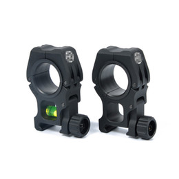 Wholesale Qd Flashlight Mount - New arrival M10 QD 30mm 25mm Ring Flashlight Scope Laser Mount With Spirit Level For 20mm picatinny weaver rail ht233