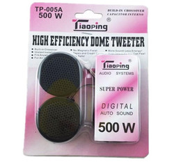 Wholesale Car Audio Mini Amplifiers - TP-005A 500W Universal High Efficiency 2x Car Mini Dome Tweeter Loudspeaker Loud Speaker Super Power Audio Auto Sound hot sale