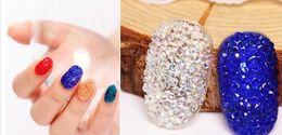 decorazione del chiodo di zircon Sconti All'ingrosso-New Fashion Mini Nail Art Zircon Strass Circa 1440pcs 1.2mm Molti colori Colla su micro vetro Diamanti FAI DA TE Decorazioni