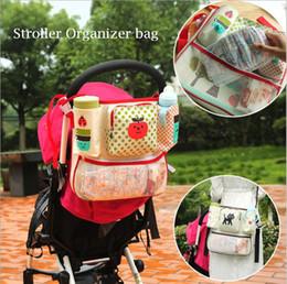 Wholesale Baby Diaper Cartoons - Cartoon Baby Stroller Bag Multifunctional Stroller Organizer Stroller Diaper Bag Large Capacity Baby Hanging Basket Accessories YYA313