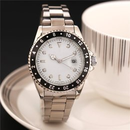 Wholesale Dimond Watches - Silver Gold Stainless Steel Band Dimond Watch Luxury Business Movement Fashion Womens Mens Quartz Wristwatches Day Clock Relogio Feminino
