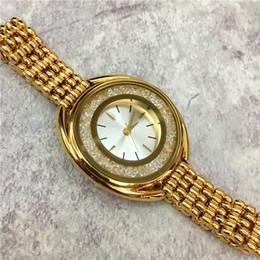 Wholesale Gold Jewelry Chain Roll - 2017 New Fashion Style Women Watch With Full diamond Rolling stones Lady Watch Steel Bracelet Chain Luxury Quartz Watch High Quality