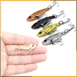 Wholesale 3d Eyes For Lures - 3.5 cm 3.5 g Metal 3D Eye Lure Bait Hook Lead Bionic Bait Fishing Lure For Fishing Tackle Accessories 4 Colors
