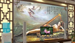 Wholesale Fairies Oil Paintings - wallpaper scenery for walls Custom 3d abstract wallpapers non-woven Seven fairy oil painting TV wall 3d photo wallpaper