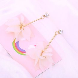 Wholesale Plastic Bow Charms - 2017 new hot fashion temperament red love earrings soft peach heart asymmetrical long earrings bow drop earrings