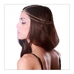 Wholesale Rhinestone Hair Bun - 2017 Trendy Head Chains Hair Accessory Rhinestones Fashion Jewelry Crystal Head Chain Hair Band Headwear Women Lady Hair Bun Free Shipping