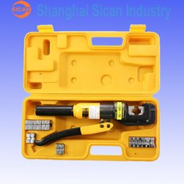 Wholesale Hydraulic Crimper Tools - Wholesale-HYDRAULIC WIRE CRIMPING TOOL BATTERY CABLE 10TON LUG TERMINAL CRIMPER SOLID gb