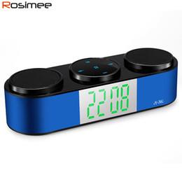 Wholesale Battery Loudspeaker Bluetooth - Wholesale-Audio Player Wireless Bluetooth 4.1 Speaker Portable HIFI Music MP3 Palyer Super Bass HandsFree FM Radio TF Slot Loudspeaker