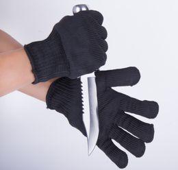 Açık çalışma Anti-kesme 5A sınıf paslanmaz çelik tel eldiven profesyonel gelişmiş multi-fonksiyonel anti-cut koruyucu eldiven siyah nereden