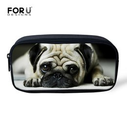 Wholesale Dogs Cosmetic - Wholesale- FORUDESIGNS Women 3d Printing Makeup Bag Cat Dog Makeup Bags for Girls Small Portable Cosmetic bag High Quality Animal Pattern