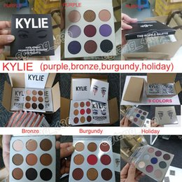 Wholesale Free Eye Shadows - 2017 Kylie Jenner eyeshadow Best quality eye shadow kit the Purple & Bronze & Burgundy & Holiday 9 colors eye shadow palette free shipping
