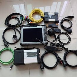 Wholesale Bmw Icom Laptop - 2in1 for bmw for benz diagnostic tool bmw icom next mb star c5 with software ssd with ix104 tablet laptop rugged pc