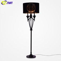 Wholesale Fabric Lampshades - FUMAT Modern Creative Goddess Pattern Floor Lamps European Fabric Lampshade Stand Light Nordic Bedroom Floor Light
