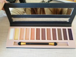 Wholesale New Arrival Nude Eyeshadow Palette - 2017 New Arrival Makeup Eye Shadow NUDE 8 12 Colors Eyeshadow Palette Shinning VS Matte free ship