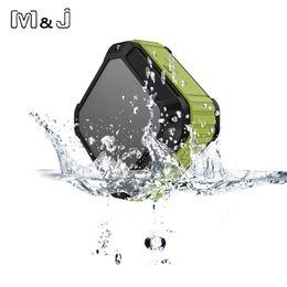 Wholesale Mini Portable Car Speaker Radio - Wholesale- M&J Portable Subwoofer Shower Waterproof Wireless Bluetooth Speaker Car Handsfree Receive Call Music Suction Mic Micro SD TF MP3