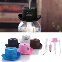Wholesale Air Cleaner Humidifier - Wholesale- Portable Mini Water Caps Humidifier USB Aroma Air Diffuser Mist Maker Air cleaner Suppion