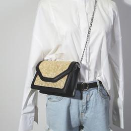 Wholesale Nylon Beach Bags Sale - 2017 new style woman fashion bags Hot Sale Women Summer Mini Straw Beach Tote Messenger Chain Shoulder Bag Handbag Satchel free shipping