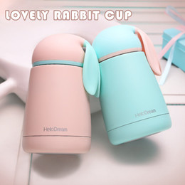 Wholesale Wholesale Rabbit Water Bottles - 300ML Vacuum Thermal insulation cup double non-magnetic stainless steel cup cute rabbit water bottle four colors