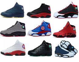 Wholesale Home Cat - Top quality air retro 13 black cat man basketball shoes He got game Chicago sneaker bred Hornets CP3 PE Home flints sports shoes