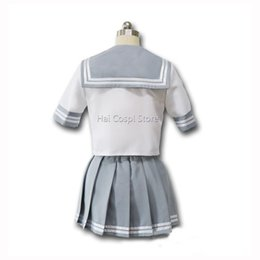 Wholesale School Girl Skirts - sunshine cosplay Anime Sunshine Cosplay Costumes Aqours Takami Chika Love Live Girls School Uniforms Japanese Anime Skirt Party Cute