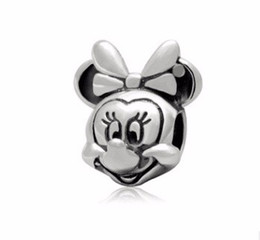 Wholesale Perles Charms - 2017 Crystal Rushed Of Lovely Sterling Jewelry Perles Mickey Chupa Chups For Yoursel fit Pandora Charm Bracelet Accessories