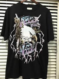 Wholesale god flash - 2017 TOP summer Justin Bieber FEAR OF GOD FEEL THE VIND eagle printing Men short sleeve T-shirt HIPHOP Oversize Cotton Tee S-XL