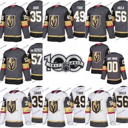 Wholesale Alex Smith Jerseys - 2018 New Style100th Vegas Golden Knights Patch 41 Pierre-Edouard 97 David Clarkson 19 Reilly Smith Bellemare 89 Alex Tuch Hockey Jersey