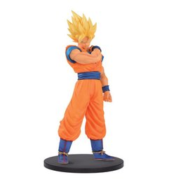 Wholesale Plastic Model Soldiers - 2Color Dragon Ball Z Resolution of Soldiers ROS Son Gokou Vegeta PVC Figure Collectible Model Toy with box