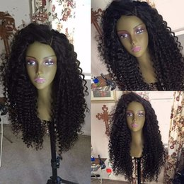 Wholesale Long Curly Human Weave - Free Part Long Afro Kinky Curly Human Hair Glueless Full Lace Human Hair Wigs Wavy Weave Curly Wig 100% Human Hair Black Women