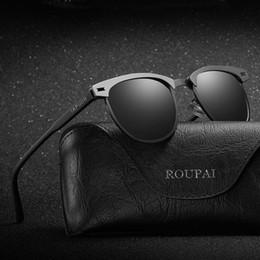 2019 herren gespiegelt polarisierte sonnenbrille Mens Fashion HD Polarisierte Spiegel Sonnenbrille Klassische Marke Designer Sonnenbrillen Männer Fahren Eyewear Kostenloser versand günstig herren gespiegelt polarisierte sonnenbrille