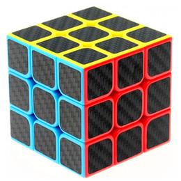 Würfel kohlenstoff online-Zcube Kohlefaser Aufkleber 3x3x3 Geschwindigkeit Zauberwürfel Puzzle Spiel Cubes Lernspielzeug Für Kinder Kinder Geburtstagsgeschenk