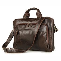 Wholesale Bag Briefcase Satchel Laptop - Wholesale- Genuine Leather Bag Casual Men Handbags Cowhide Men Crossbody Bag Men's Travel Bags Laptop Briefcase Bag for Man