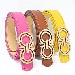 Wholesale belts children - Classic Fashion Kids Faux Leather Belts Brand Designer Children Buckle Belt Girls Boys Leisure Strap High Quality