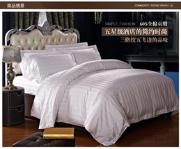 Wholesale hotel duvet covers - Wholesale- New high quality home and hotel bedding set, 2 pillow case, 1 bed sheet and 1 duvet cover bed cover