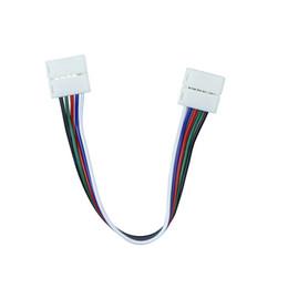 Conector de tira impermeável on-line-10 pçs / lote 5pin 10mm RGBW Adaptador de Conector de Solda Striper Strip para Faixa de 5050 RGBW não Tira CONDUZIDA À Prova D 'Água