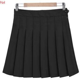 Wholesale Korean Sexy Shorts - 2017 Women Summer Style Sexy Skirt Girl Lady Korean Short Skater Skirts Plus Size Fashion Female Button Zipper Pleated Mini Skirt SVH032743