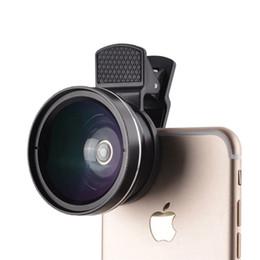Рыбий глаз объектив 2 в 1 профессиональный HD телефон объектив камеры комплект 0.45 X широкий угол+12.5 X макро клип на рыбий глаз для смартфона от