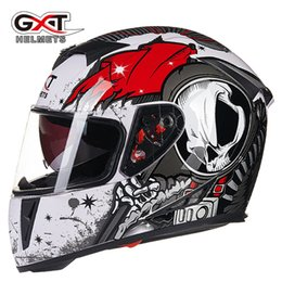 Wholesale Double Lens Helmet - GXT motorcycle helmet double lens cover all full face electric safety helmet four seasons general