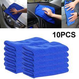 Wholesale Microfiber Wax - Wholesale- 10pcs 25*25cm Soft Absorbent Washing Cloth Microfiber Car Cleaning Towels Thick Plush Car Care Wax Polishing Detailing Towel