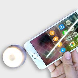 Wholesale flash light mp3 - 2017 NEW Universal LED Photography Flash Light Spotlight Camera Phone Fill In Selfie Light + 3.5mm Portable Speaker Audio for iPhone Samsung