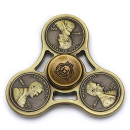 Wholesale Fine Metal Crafts - Retro Metal fidget spinner Cent Lasting rotation Low noise High Speed Fine craft hand spinner #MF52