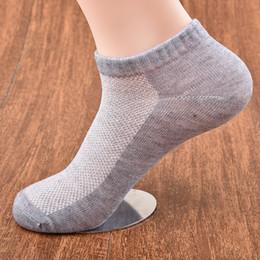 Wholesale Thin Black Cotton Socks - High Quality Summer Casual Mesh Breathable Cotton Socks Thin Low Mesh Solid Women Men Sports Socks Deodorant Socks Black Grey White