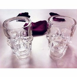 Wholesale Skulls Head Vodka - High Quality Skull Head Vodka Whiskey Shot Glass Cup Drinking Ware Home Bar